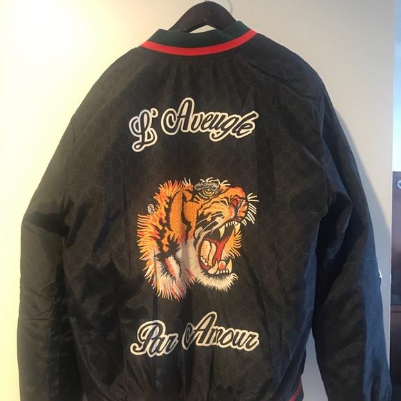 e547e4703 Gucci L'Aveugle par amour bomber jacket. Gucci. M_5ce4b47dbb22e35962b0140c.  M_5ce4b47eb146ccf8f6e8041c. M_5ce4b47fadb58d321b850716